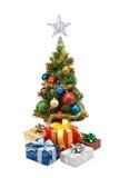 圣诞节tree&gift配件箱9 库存图片