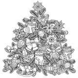 圣诞节treeChristmas树装饰品 免版税库存照片