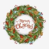圣诞节wreath2 图库摄影