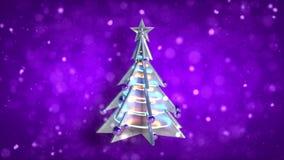 圣诞装饰xmas树圈紫色闪烁 影视素材