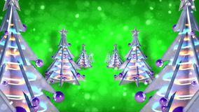 圣诞装饰xmas树圈绿色闪烁 股票录像