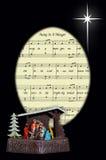 圣诞颂歌和诞生。 库存照片