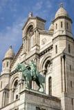 圣贞德雕象在Monmartre 免版税库存照片