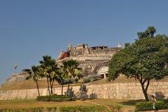 圣费利佩de巴拉哈斯城堡-卡塔赫钠哥伦比亚 免版税库存图片