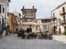 圣费利切奇尔切奥古老村庄在中央意大利 免版税图库摄影