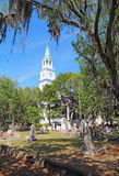 圣赫勒拿岛英国国教教区教堂在Beaufort,南加州 免版税库存图片