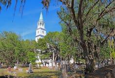 圣赫勒拿岛英国国教教区教堂在Beaufort,南加州 免版税库存照片