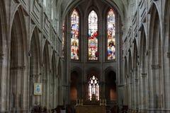 圣路易哥特式大教堂游览的 库存图片