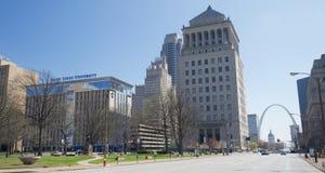 圣路易大学大厦,圣路易斯密苏里 免版税库存照片