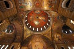 圣路易大教堂圆顶,圣路易斯密苏里内部  图库摄影