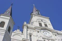 圣路易大教堂在杰克逊广场 图库摄影