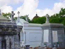 圣路易斯公墓#1,其中一座上面地面公墓在新奥尔良路易斯安那美国 库存图片