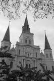 圣路易斯大教堂在城市新奥尔良 库存照片
