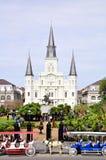 圣路易斯大教堂在新奥尔良,路易斯安那 库存图片