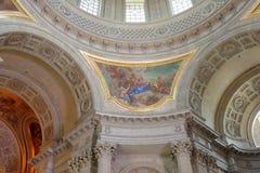 圣路易斯大教堂的内部绘画无效 库存图片