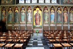 从圣路易斯大教堂的圣徒壁画 免版税库存照片
