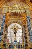 圣路易斯大教堂Invalides的内部 库存图片