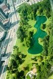 圣路易斯密苏里鸟瞰图  免版税图库摄影