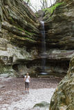 圣路易斯峡谷瀑布 免版税库存照片