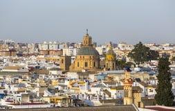 圣路易斯法国人,塞维利亚,西班牙教会  免版税库存照片