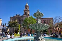 圣路易斯波托西州,墨西哥的历史的中心 图库摄影