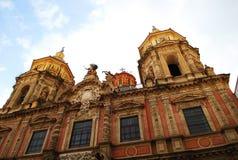 圣路易斯美丽的天主教会在塞维利亚,西班牙 免版税库存照片