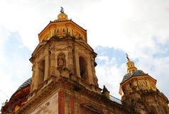 圣路易斯美丽的天主教会在塞维利亚,西班牙 免版税库存图片