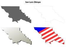 圣路易斯-奥比斯波县,加利福尼亚概述地图集合 库存照片