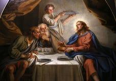 圣路易斯du Louvre教会,巴黎,法国内部  免版税库存照片