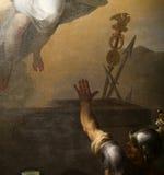 圣路易斯du Louvre教会,巴黎,法国内部  免版税库存图片