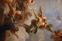 圣路易斯du Louvre教会,巴黎,法国内部  库存图片