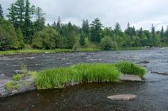圣路易河和岩石露出 免版税库存照片