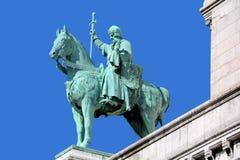 圣路易骑马雕象  库存图片