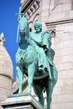 圣路易骑马雕象  免版税图库摄影