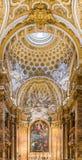 圣路易dei Francesi教会的华丽内部在罗马 免版税库存照片