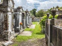 圣路易La Fayette公墓No1的墓地 免版税图库摄影