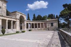 圣迈克尔和圣乔治宫殿在科孚岛希腊海岛上的科孚岛镇  库存照片