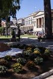 圣迈克尔和圣乔治宫殿在科孚岛希腊海岛上的科孚岛镇  免版税图库摄影
