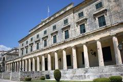 圣迈克尔和圣乔治宫殿在科孚岛 免版税图库摄影