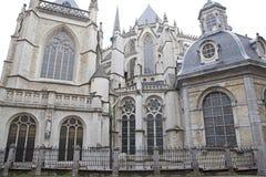 圣迈克尔和圣Gudula大教堂在布鲁塞尔 图库摄影