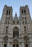 圣迈克尔和圣Gudula大教堂,布鲁塞尔 比利时 库存图片