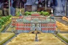 圣迈克尔城堡布局(1801)在圣彼德堡,俄罗斯 库存图片