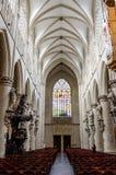 圣迈克尔大教堂在布鲁塞尔 库存照片