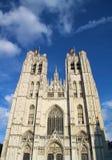 圣迈克尔大教堂在布鲁塞尔 图库摄影