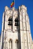 圣迈克尔大教堂在布鲁塞尔 免版税库存图片