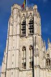 圣迈克尔大教堂在布鲁塞尔 库存图片