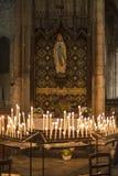 圣迈克尔大教堂在红葡萄酒,法国 库存图片