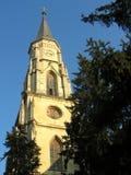 圣迈克尔大教堂塔-科鲁Napoca,罗马尼亚 免版税库存图片