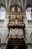 圣迈克尔大教堂管风琴在布鲁塞尔 免版税图库摄影