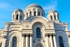 圣迈克尔天使的教会在考纳斯 立陶宛 图库摄影